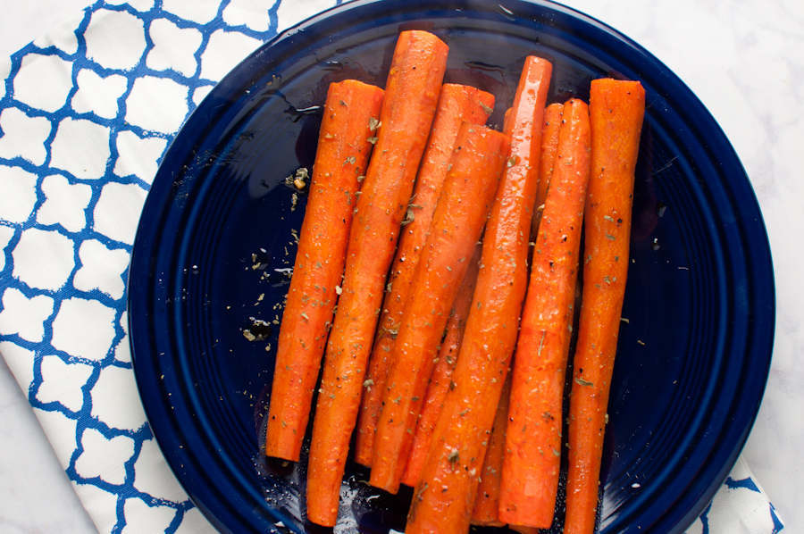 Garlic Roasted Carrots - Tabitha Talks Food